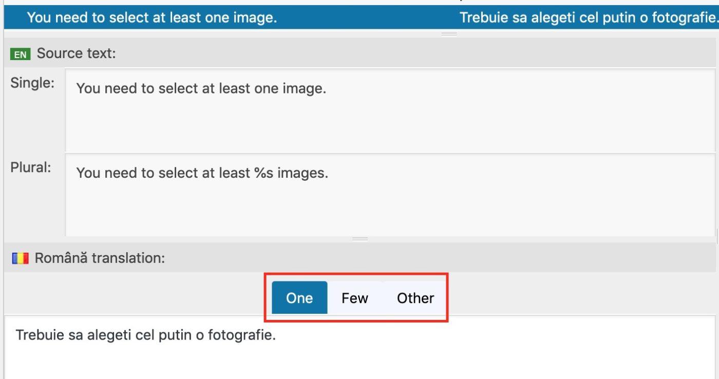 Loco Translate plural forms